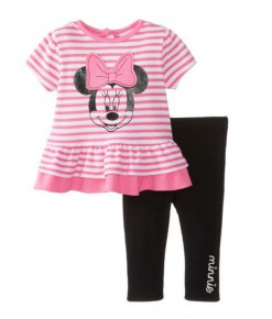 Pink Stripes Minnie Pajama