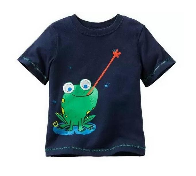 Frog Catch Dark Blue Tee - Kicau Kecil