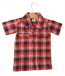Plaid Pocket Shirt - Red