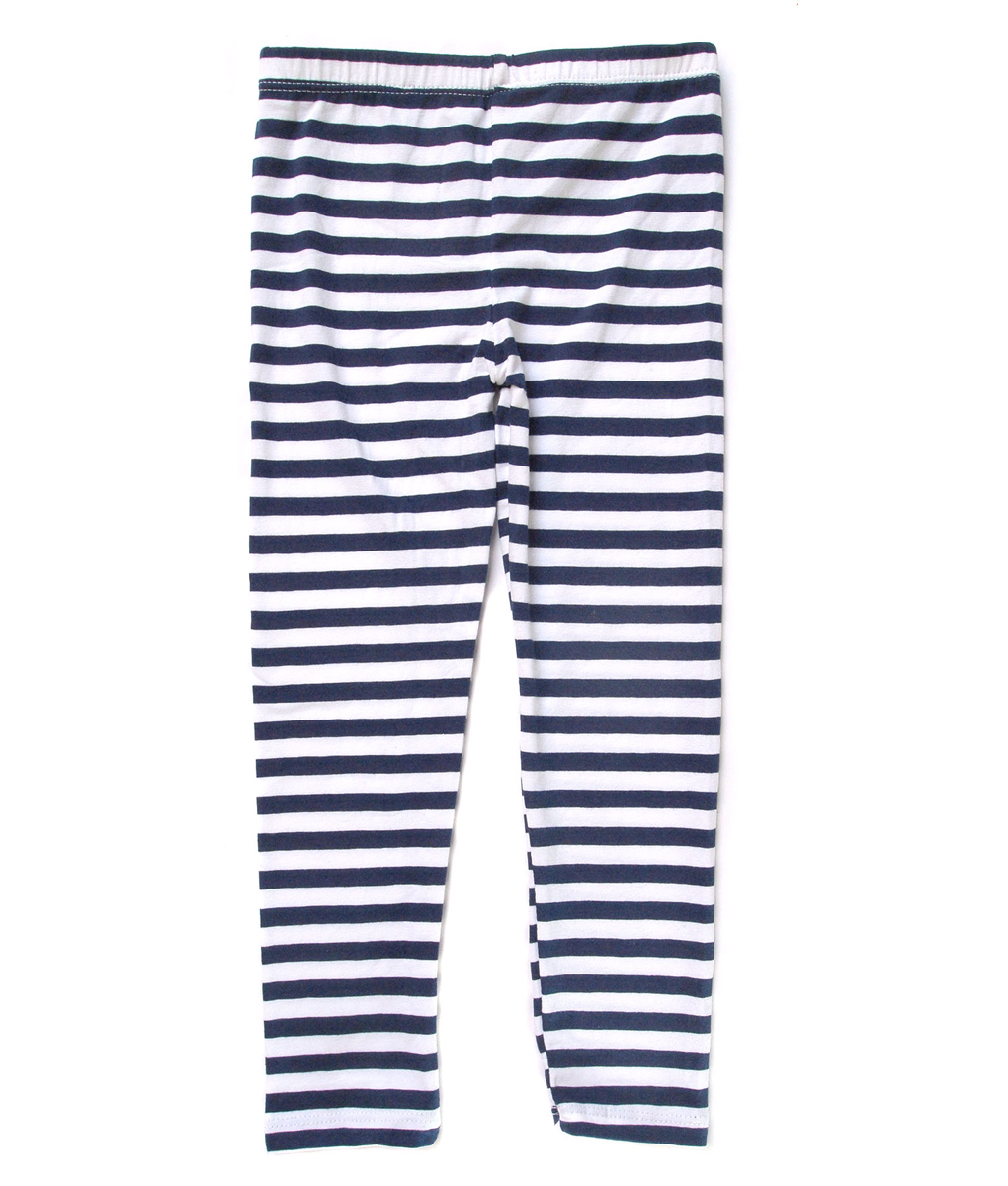 Girl Legging - Dark Blue Stripe - Kicau Kecil
