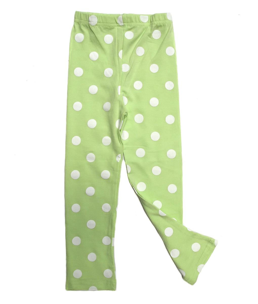 polka legging green lime size 90 dan 110 kicau kecil