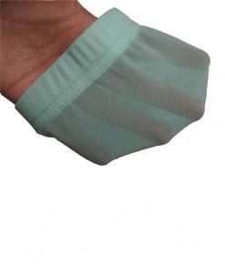 See-Through Net Short Legging - Turquoise