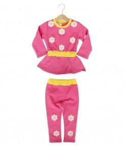 Flower Rample Tee + Pant - Pink