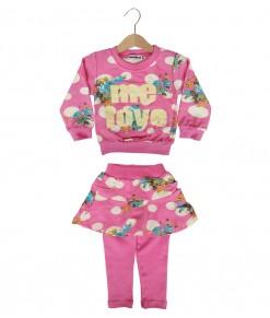 Love Flower Polka Tee + Pant - Pink